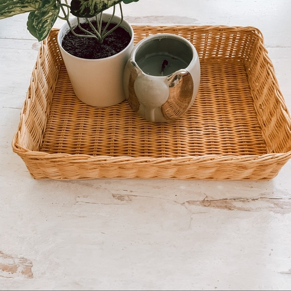 Vintage Other - Vintage Boho Basket Tray